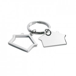 SNIPER - Metal key ring in house shape.