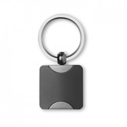 SIMPLISNERO - Classic square key ring in zinc alloy