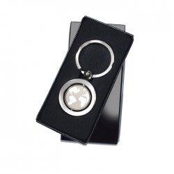 GLOBY - Metal key ring with globe decoration inside