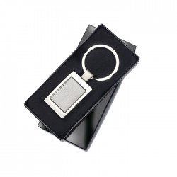 HARROBS - Metal rectangular key ring