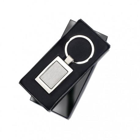 HARROBS - Metal rectangular key ring