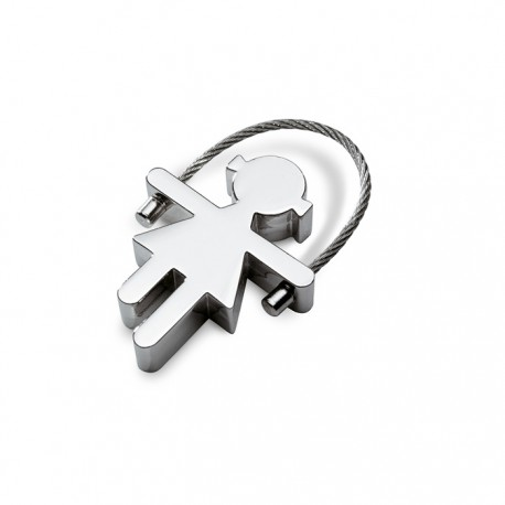 MARIANA - Girl shaped zinc alloy key ring