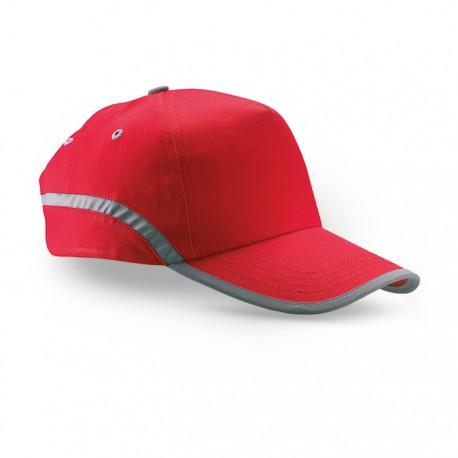 VISINATU - Cotton twill baseball cap with reflective trimming