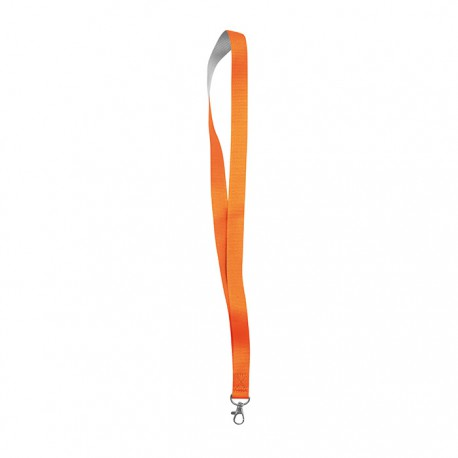 NEON TENY - Neon two tone lanyard with metal hook