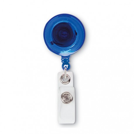 LADES - Badge holder in transparent colours with metallic clip
