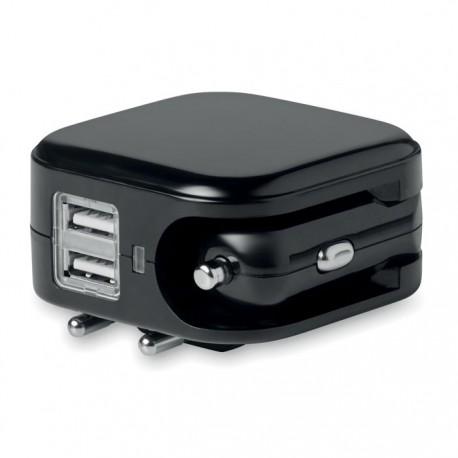 EU plug and USB Port car charger