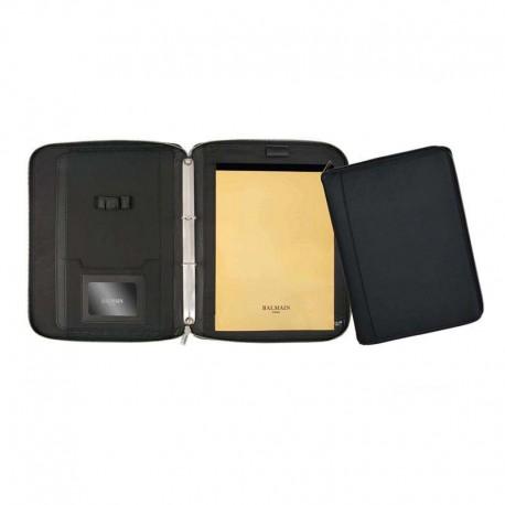 Balmain portfolio with zipper closure
