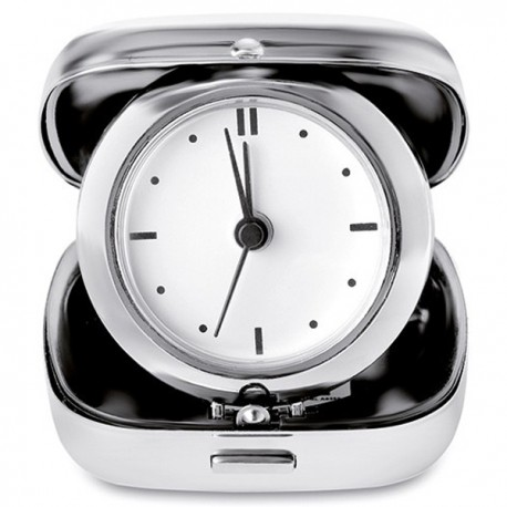 GLIM - Metal travel alarm clock with carrying case