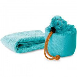 MINK - Fitness towel in mesh pouch.