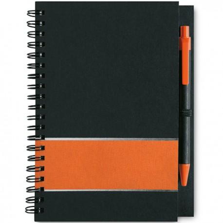 LIGNEX - Elegant notebook in black carton
