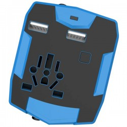 Travel adapter with powerbank
